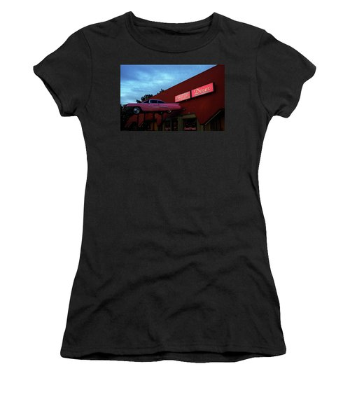 The Pink Cadillac Diner Women's T-Shirt (Athletic Fit)