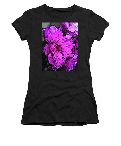 The Pink Flower With The Lavender Edges Women's T-Shirt (Athletic Fit)