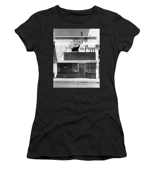 The Poppy, Coffee Shop, Fountain, Alvarado Street, Monterey Circ Women's T-Shirt