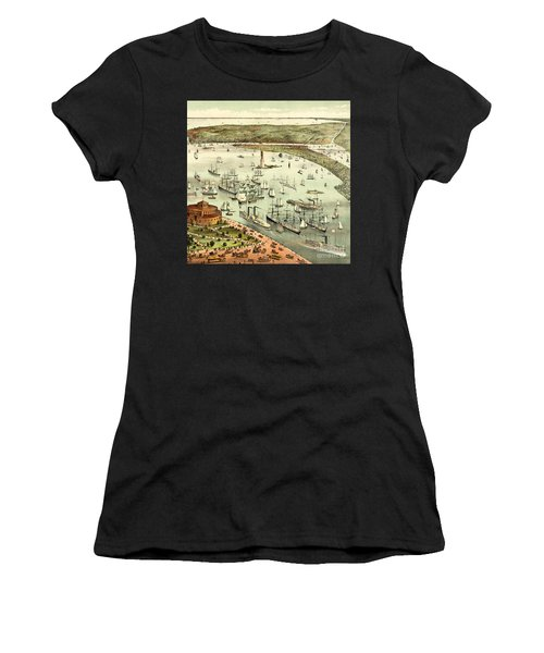 The Port Of New York, Birds Eye View From The Battery, Looking South, Circa 1892 Women's T-Shirt