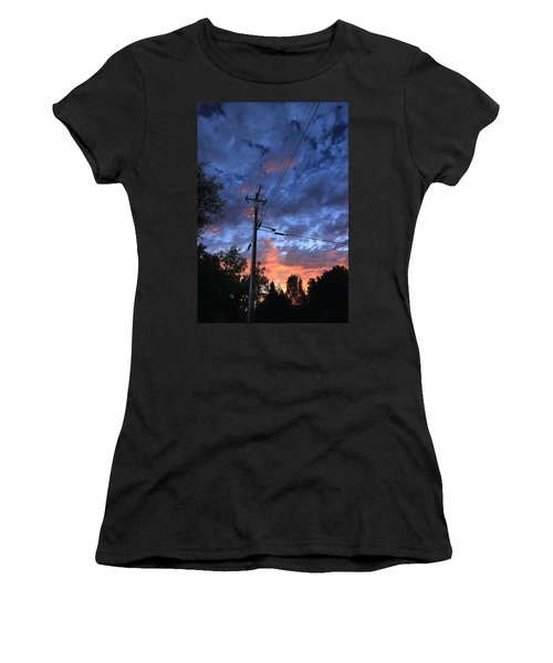 Women's T-Shirt (Athletic Fit) featuring the photograph The Power Of Sunset by Sean Sarsfield