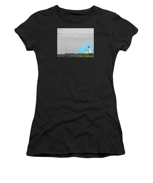 The Powerful  Lighthouse On Lake Michigan Women's T-Shirt