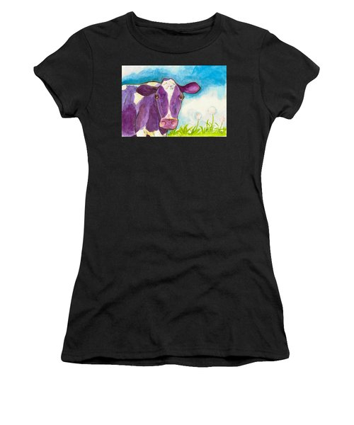 The Purple Cow Women's T-Shirt (Athletic Fit)