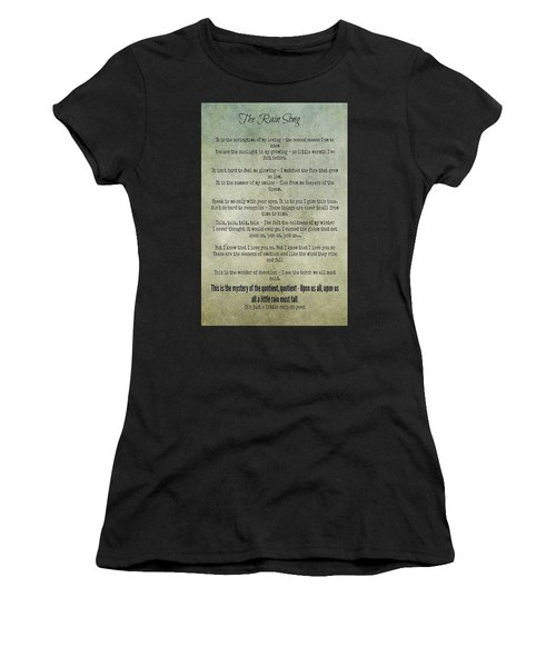 The Rain Song-led Zeppelin Women's T-Shirt (Athletic Fit)