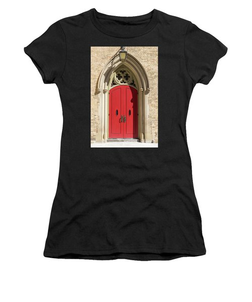 The Red Church Door. Women's T-Shirt (Athletic Fit)
