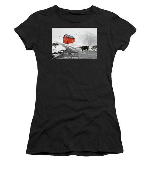 The Red Red Barn Women's T-Shirt (Athletic Fit)