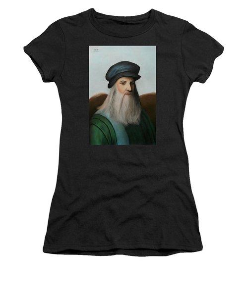 The Master Of Renaissance - Leonardo Da Vinci  Women's T-Shirt (Athletic Fit)