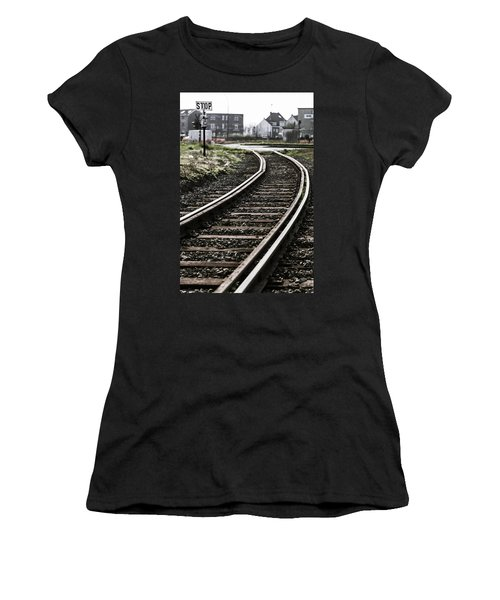 The Right Track? Women's T-Shirt (Athletic Fit)