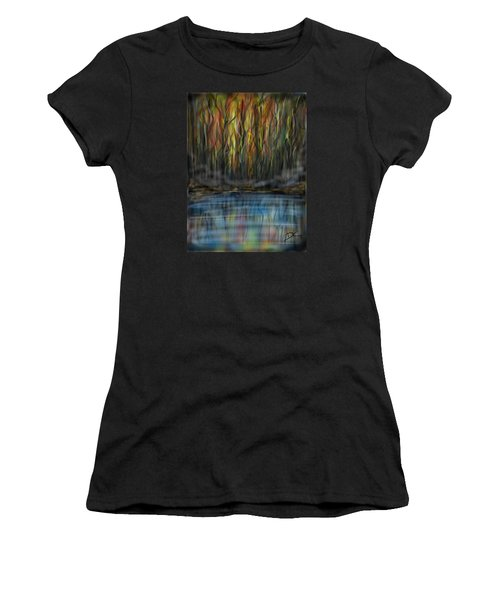 Women's T-Shirt featuring the digital art The River Side by Darren Cannell