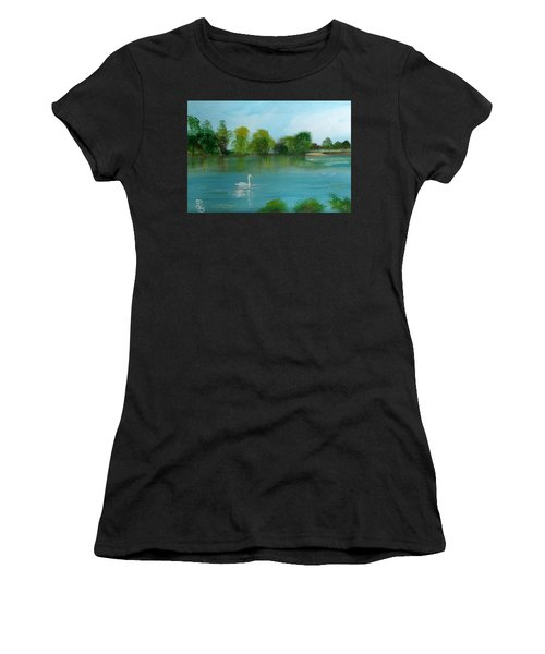 The River Thames At Shepperton Women's T-Shirt (Athletic Fit)