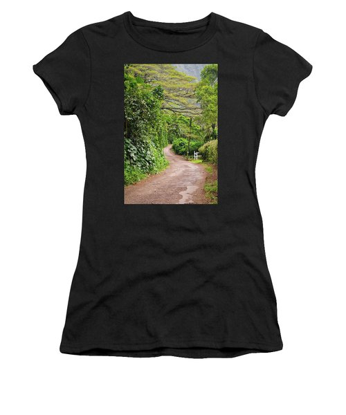 The Road Less Traveled-waipio Valley Hawaii Women's T-Shirt