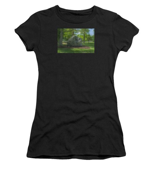 The Rock At Frothingham Park, Easton, Ma Women's T-Shirt (Athletic Fit)