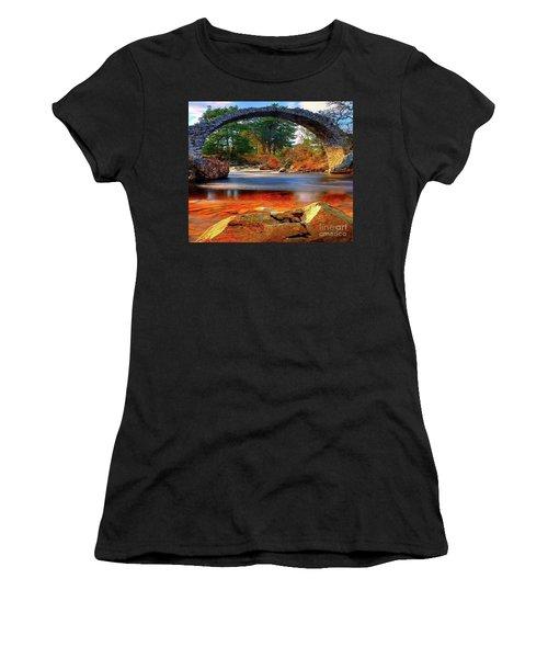 The Rock Bridge Women's T-Shirt (Athletic Fit)