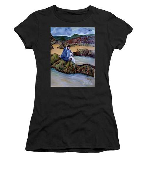The Rock Pool - Painting Women's T-Shirt (Athletic Fit)