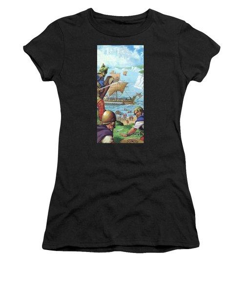 The Romans Invading Britain  Women's T-Shirt