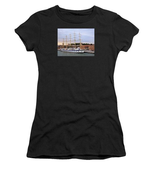 The Royal Clipper Docked In Venice Italy Women's T-Shirt (Athletic Fit)