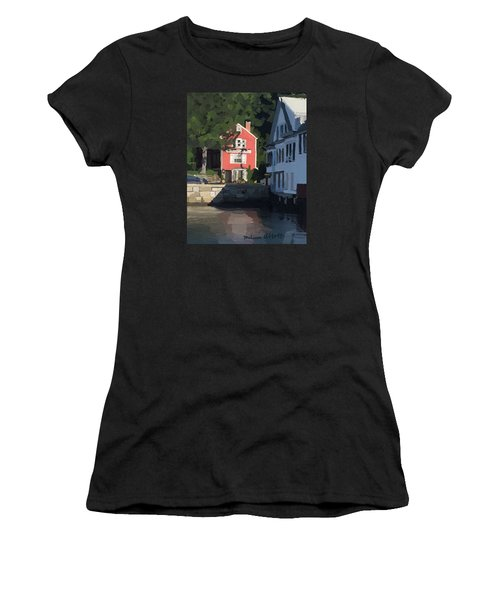 The Sacred Cod And Beacon Marine Basin Women's T-Shirt (Athletic Fit)