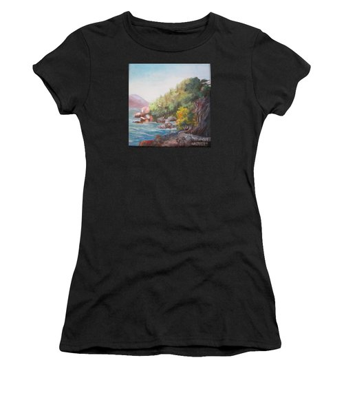 The Sea And Rocks Women's T-Shirt (Athletic Fit)