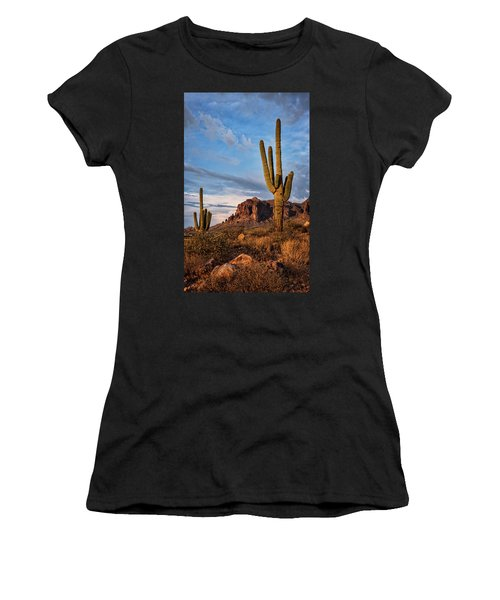 Women's T-Shirt (Athletic Fit) featuring the photograph The Sentinels Of The Supes In Color  by Saija Lehtonen