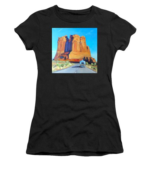 The Shadow Of The Three Gossips Arches Utah Women's T-Shirt
