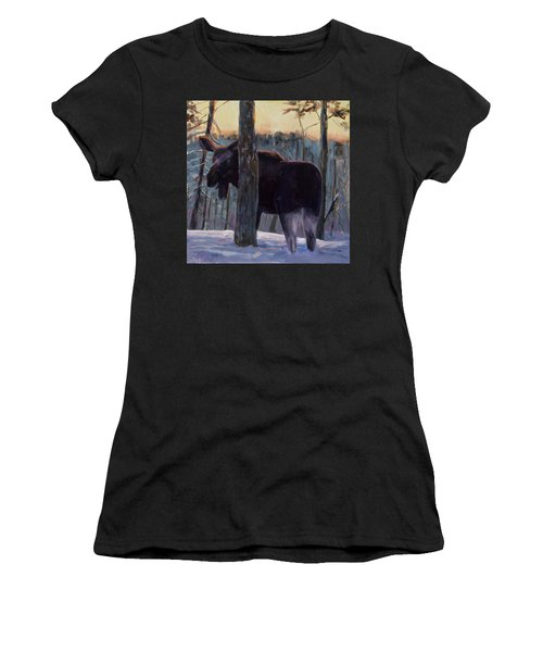 Women's T-Shirt (Junior Cut) featuring the painting The Shy One by Billie Colson