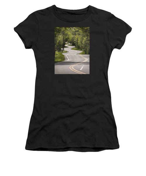 Women's T-Shirt (Athletic Fit) featuring the photograph The Signature Road by Barbara Smith