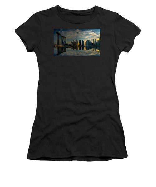 The Singapore Skyline Women's T-Shirt (Athletic Fit)