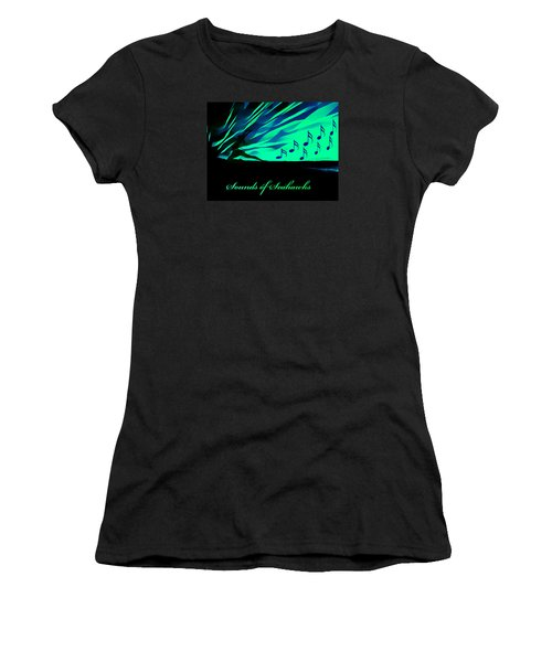 The Sounds Of Seattle Seahawks Women's T-Shirt (Junior Cut) by Eddie Eastwood