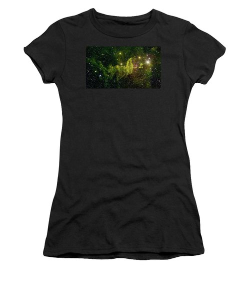 Women's T-Shirt (Junior Cut) featuring the photograph The Spider And The Fly Nebula by NASA JPL - Caltech