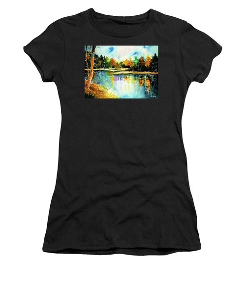 The Splendor And  Color Of Autumn Women's T-Shirt (Junior Cut) by Al Brown