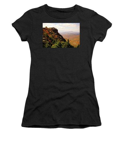 Women's T-Shirt (Junior Cut) featuring the photograph The Summit In Fall by Meta Gatschenberger