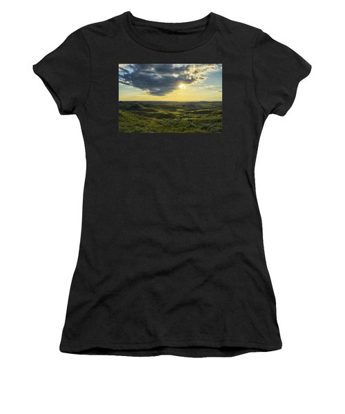 The Sun Shines Through A Cloud Women's T-Shirt (Athletic Fit)