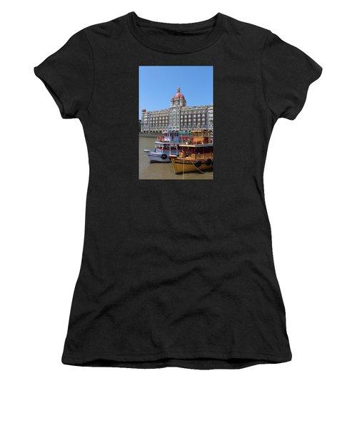 The Taj Palace Hotel And Boats, Mumbai Women's T-Shirt (Junior Cut) by Jennifer Mazzucco