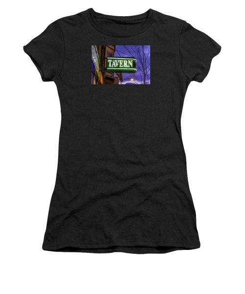 The Tavern On Lincoln Women's T-Shirt (Junior Cut) by Raymond Kunst