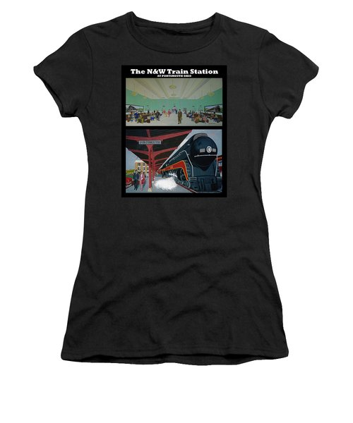 The Train Station At Portsmouth Ohio Women's T-Shirt (Junior Cut) by Frank Hunter