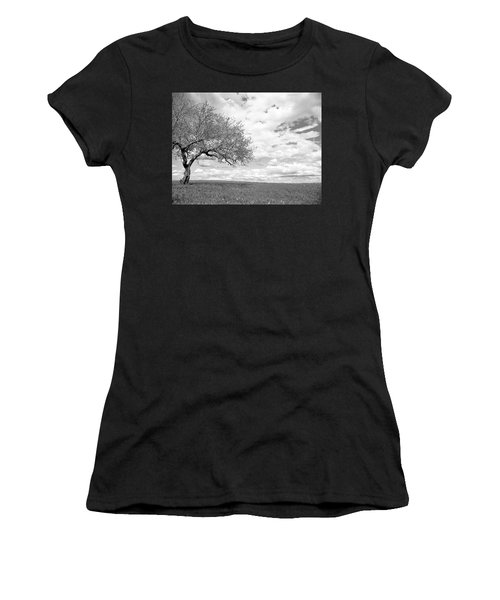 The Tree On The Hill Women's T-Shirt (Athletic Fit)