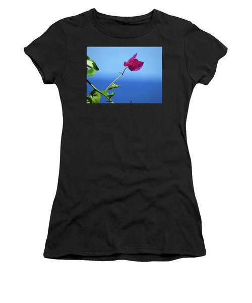 The Tropical Bloom Women's T-Shirt (Athletic Fit)