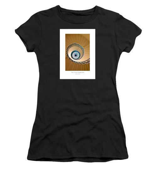 Women's T-Shirt featuring the digital art The Tulip Staircase by Julian Perry