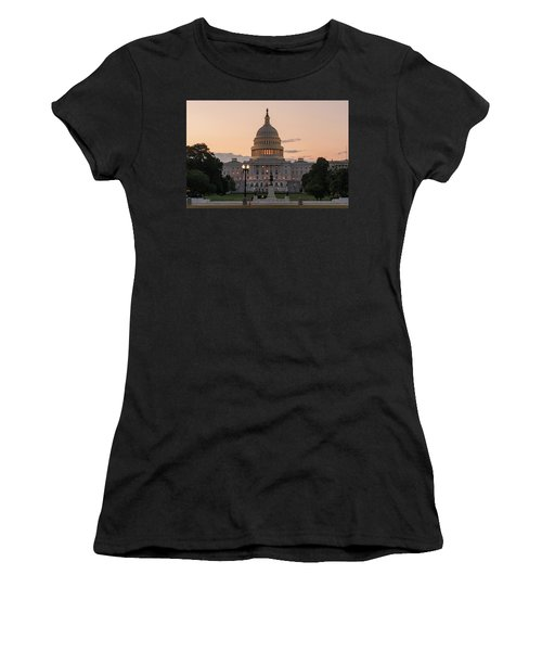 The United States Capitol At Sunrise Women's T-Shirt