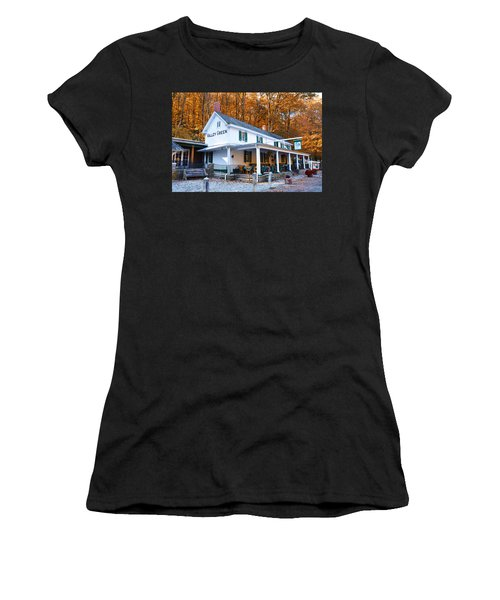 Women's T-Shirt featuring the photograph The Valley Green Inn In Autumn by Bill Cannon