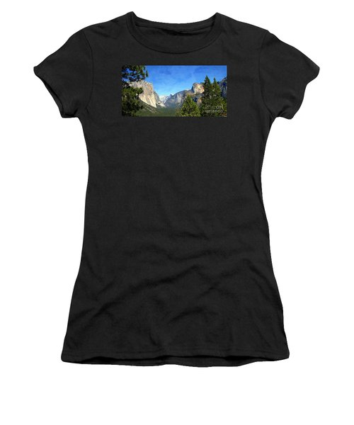 The Valley Of Inspiration-yosemite Women's T-Shirt (Athletic Fit)