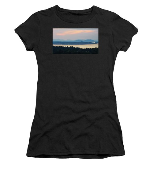 The View From Mt. Tolmie Women's T-Shirt (Junior Cut) by Keith Boone