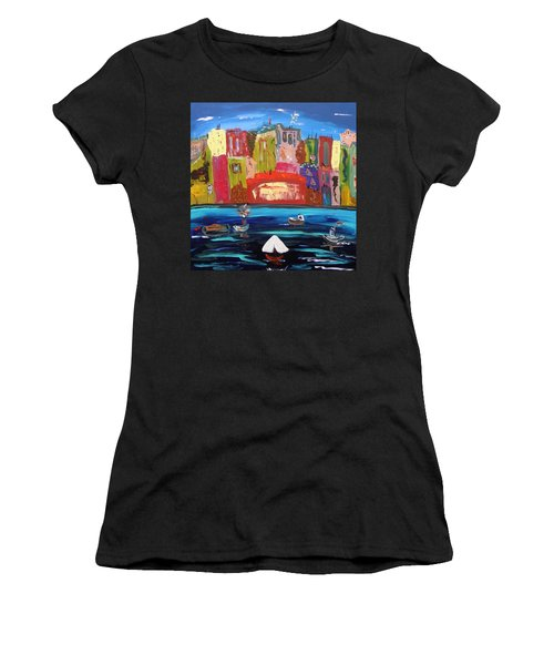 The Vista Of The City Women's T-Shirt (Junior Cut) by Mary Carol Williams