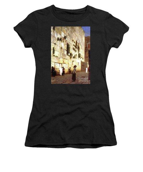 The Wailing Wall, Jerusalem, 1869 Women's T-Shirt