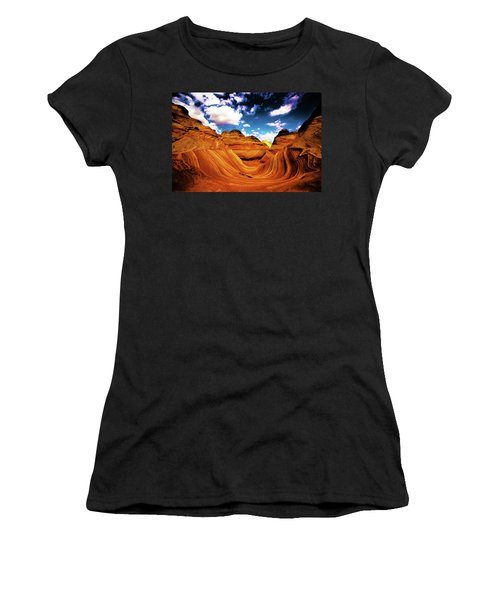 Women's T-Shirt (Athletic Fit) featuring the photograph The Wave Arizona Light by Norman Hall