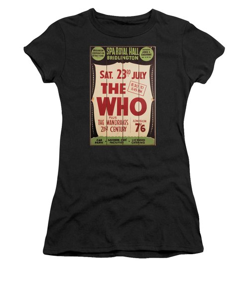 The Who 1966 Tour Poster Women's T-Shirt (Athletic Fit)