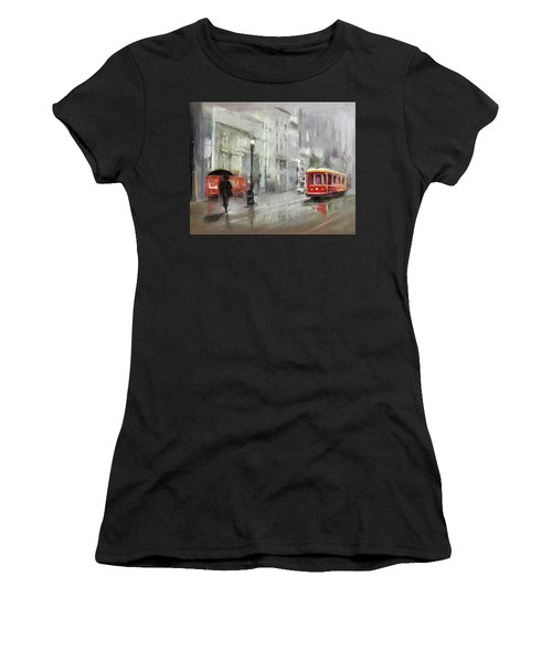 The Woman In The Rain Women's T-Shirt