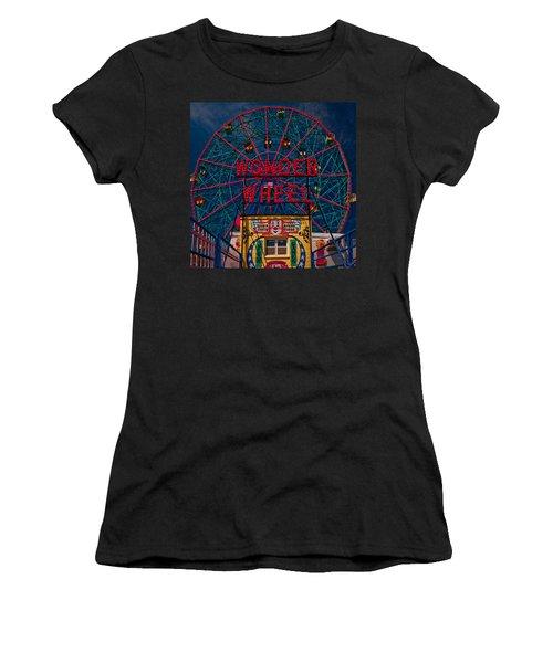 The Wonder Wheel At Luna Park Women's T-Shirt (Athletic Fit)