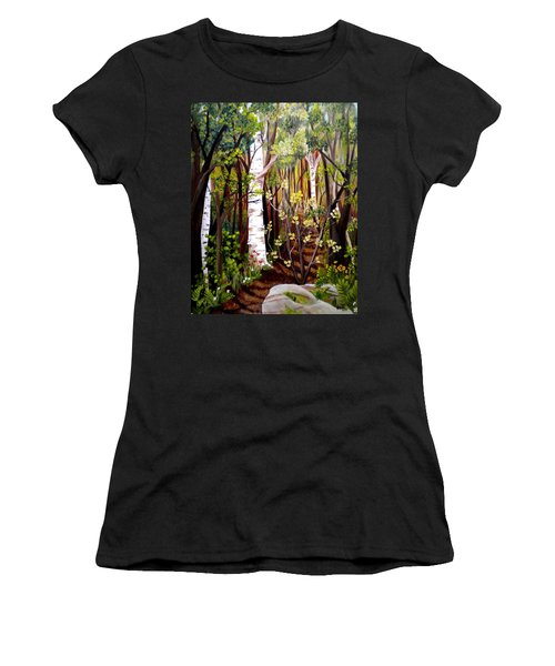 The Woodland Trail Women's T-Shirt (Athletic Fit)