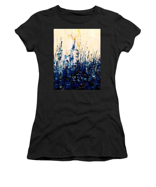 The Woods - Blue No.1 Women's T-Shirt (Athletic Fit)